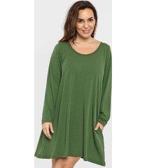 vestido verde minari bolsillos