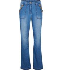 hållbara jeans av återvunnen polyester, bootcut