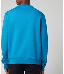 lanvin men's paris embroidered sweatshirt - pristine blue - xl