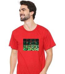 camiseta sandro clothing nature vermelho - vermelho - masculino - dafiti