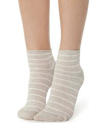 calzedonia fancy striped socks woman white size tu
