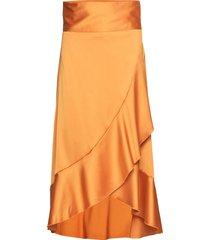 tammy skirt knälång kjol orange twist & tango