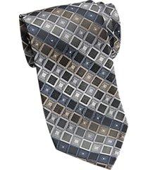 calvin klein black & brown check extra long narrow tie