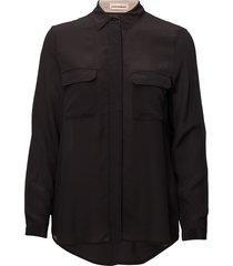 athalie blus långärmad svart custommade
