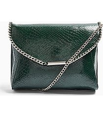 court green chain clutch bag - green