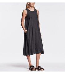 sueded cut-away tank dress