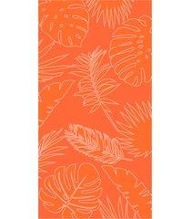 toalha de praia beach - appel - folhagem laranja, - tricae