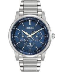 citizen men's dress eco-drive stainless steel bracelet watch 44mm bu2010-57l