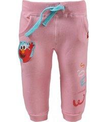 pantalon de buzo rosado plaza  sesamo