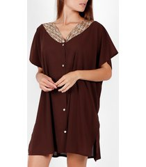 pareo admas strand tuniek shirt bright sequins chocolade