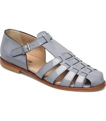 sandals - flat - closed toe - op shoes summer shoes flat sandals grå angulus