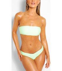 mix & match brazilian v front bikini brief, mint