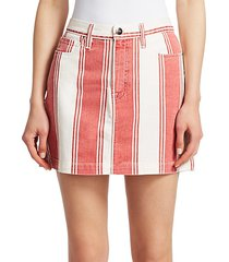 le mini striped skirt