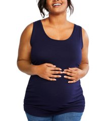 motherhood maternity plus size ruched tank top