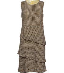 dress woven fabric jurk knielengte bruin gerry weber