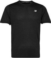 impact run ss t-shirts short-sleeved svart new balance
