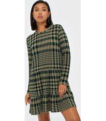 jacqueline de yong jdybrienne l/s check dress jrs exp loose fit dresses