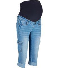 jeans capri prémaman stile cargo (blu) - bpc bonprix collection