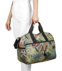 maleta m plegable estampado tropical citybags multicolor