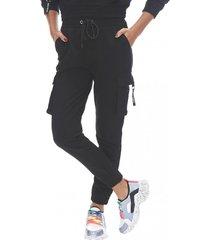 pantalon jogger i cargo negro corona