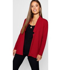 petite notch detail oversized boyfriend blazer, wine