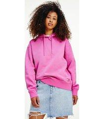 tommy hilfiger women's modern hoodie vivid fuchsia - xs