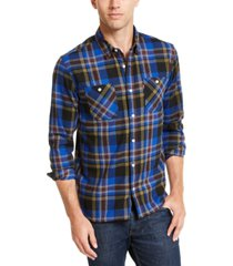 levi's men's dual pocket plaid flannel shirt