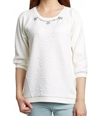 s. oliver off white sweater 3/4 mouw