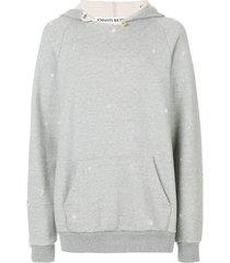 enfants riches déprimés distressed hoodie - grey