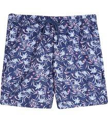 pantaloneta de baño flores color azul,talla xs