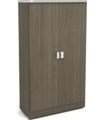 armário alto kappesberg 1013 2 portas com chave teca itália