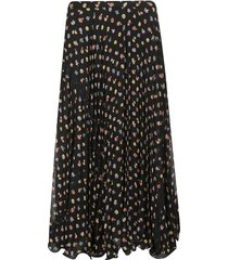 see by chloé flared floral skirt