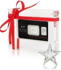 amin luxury designer earrings, 0.38 carat rising star cut diamond