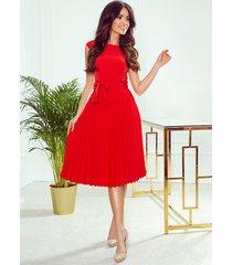 311-1 lila plisowana sukienka