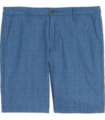 men's ag wanderer slim fit linen blend shorts, size 40 - blue