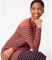 loft striped henley midi dress