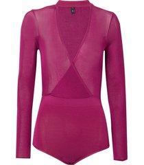 body rosa chá estela ii tricot rosa feminino (magenta haze, gg)