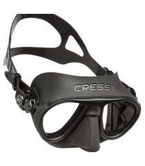 máscara de mergulho cressi calibro preto .