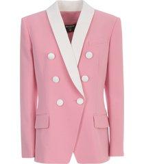 balmain 6 btn shawl collar crepe jacket