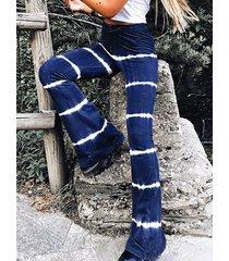 cintura elástica con efecto tie dye azul jeans