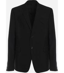 bottega veneta single-breasted wool jacket