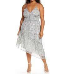 plus size women's leith sleeveless asymmetrical dress
