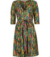 print jurk met lurex findy  multi