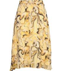 reemaiw skirt knälång kjol gul inwear