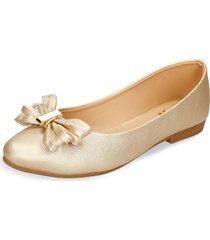 baletas dorado bata hex mujer