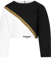 balmain multicolor sweatshirt for girl with logo