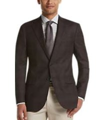 joseph abboud limited edition brown plaid modern fit sport coat