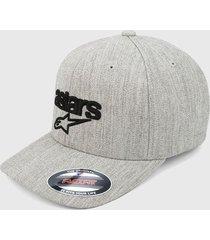 gorra gris-negro alpinestars