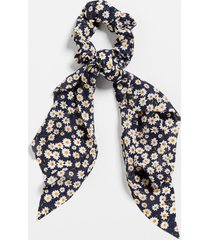 maurices womens blue daisy floral scrunchie scarf
