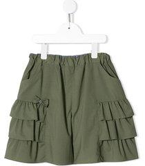 familiar ruffled shorts - green